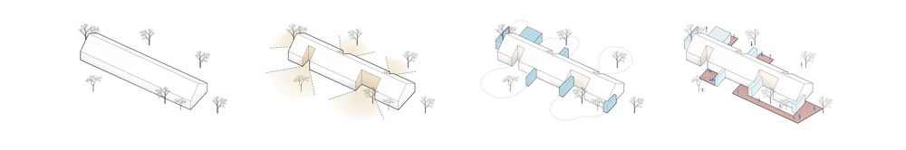 This is an illustration of the house design showcasing the lighting and structures of the house.