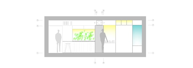 This is an illustration of the cross section elevation of the house.