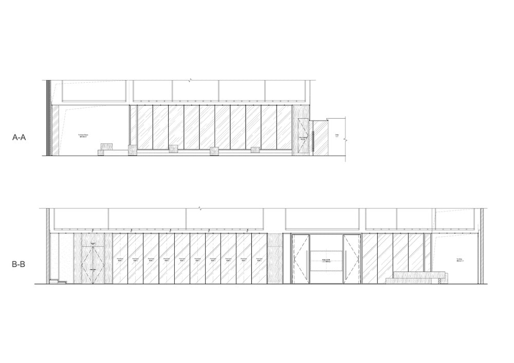 These are the illustrations of the cross section elevations of the structure.