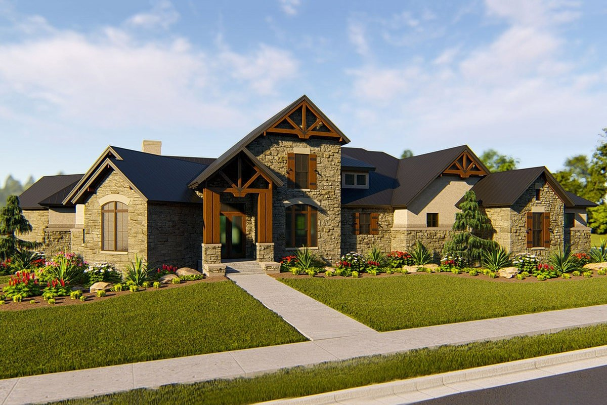 Single-Story 4-Bedroom Hill Country Home with 3-Bay Garage