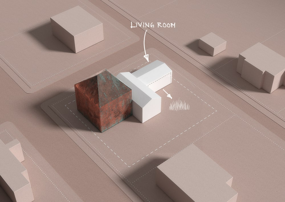 This is a 3D diagram depicting the living room structure of the property.
