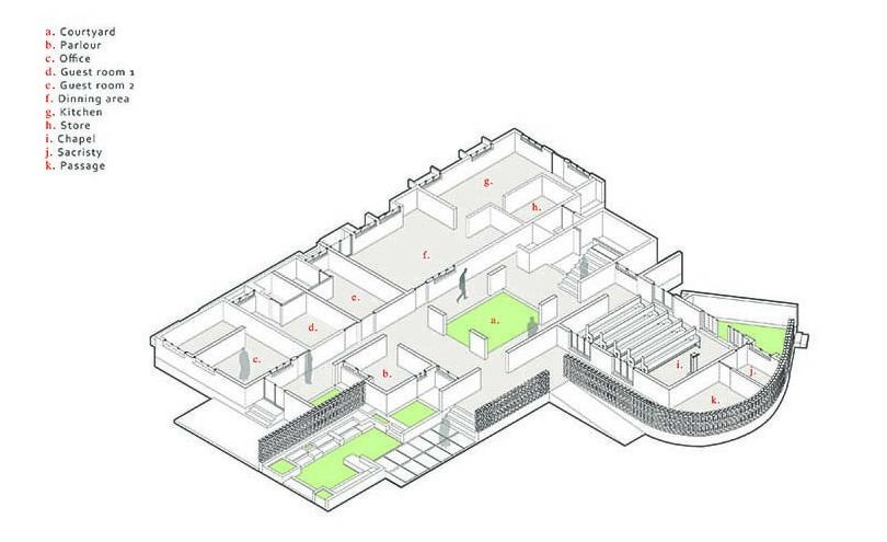 This is a 3D illustration of the ground level floor plan.