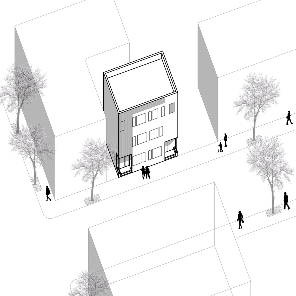 This is an illustration of the house's site map within the neighborhood.
