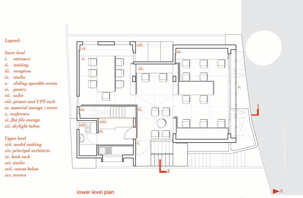 This is an illustration of the house's lower level floor plan.