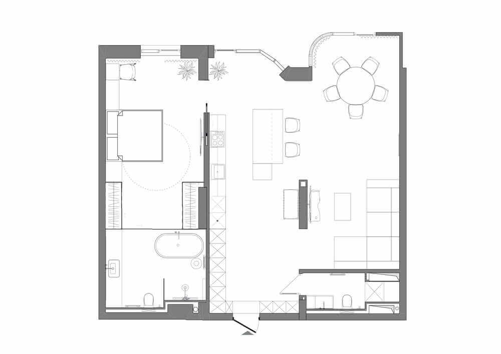 This is the illustration of the house's floor plan.