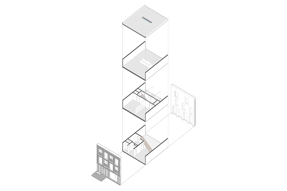 This is an illustration of the house and its various sections isolated.