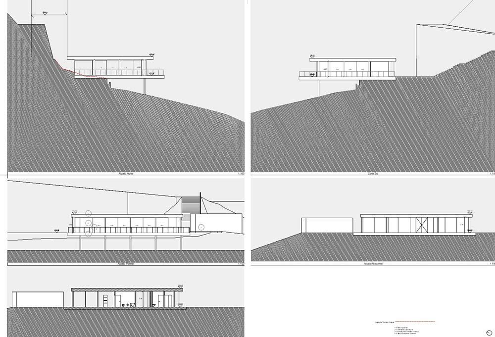 This is an illustration of the various elevations and cross sections of the house.