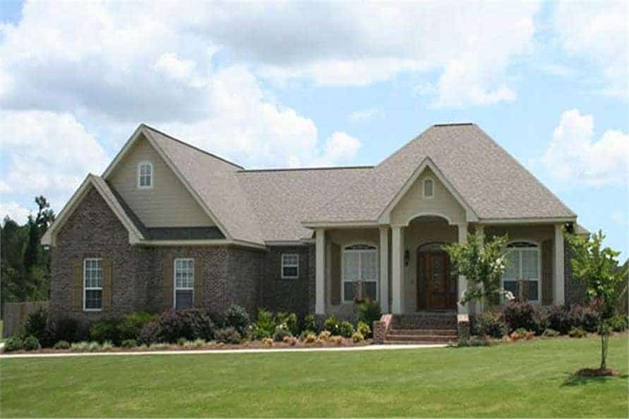 Single-Story 4-Bedroom Acadian Style Home for a Corner Lot with Bonus Above Garage