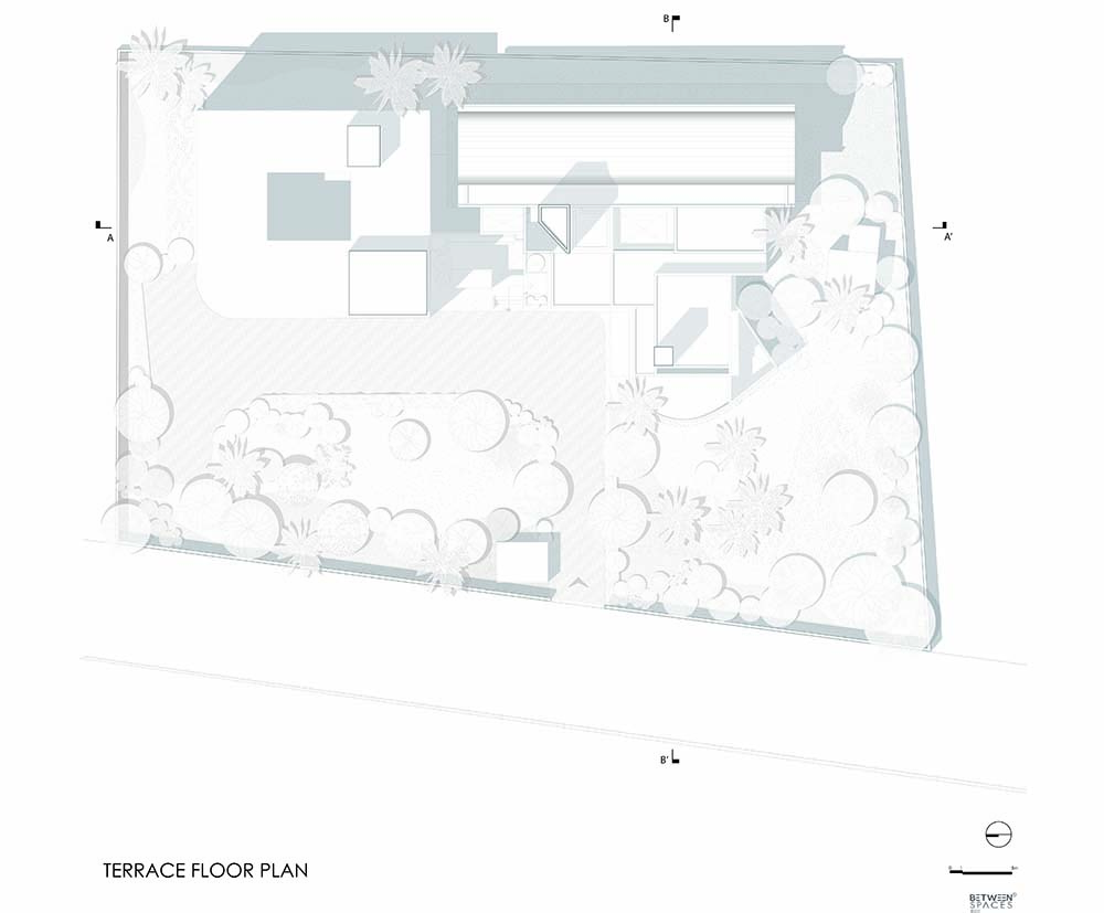 This is an illustration of the terrace level floor plan.
