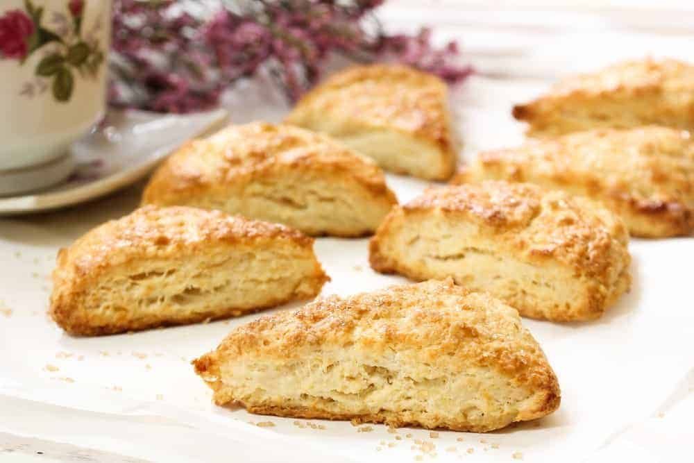 A batch of freshly-baked Sour Cream Scones.