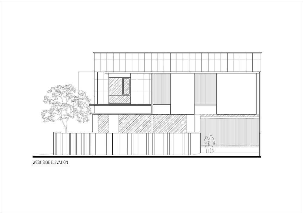 This is the illustration of the house's west side elevation.