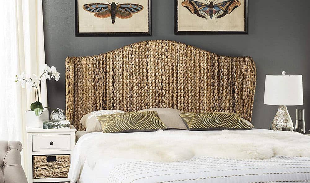 Safavieh Home Collection Nadine Natural Winged Headboard, King from Amazon.