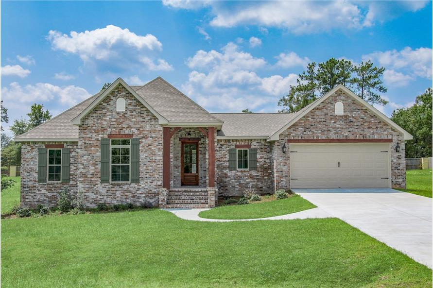 4-Bedroom Single-Story Acadian Style Home with Open Concept Living