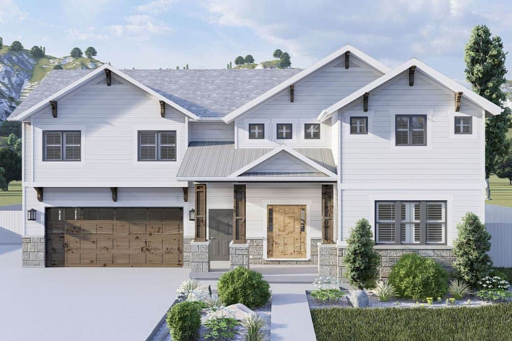 4-Bedroom Two-Story Modern Farmhouse with Optional Lower-Level Apartment or In-Law Suite
