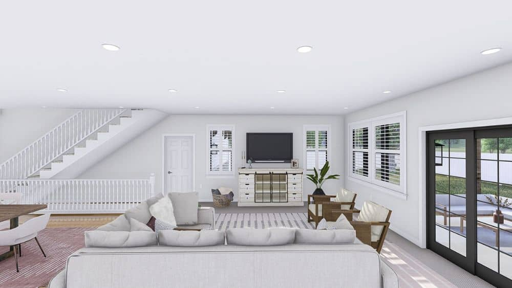 Sliding glass doors off the family room opens to the rear patio.