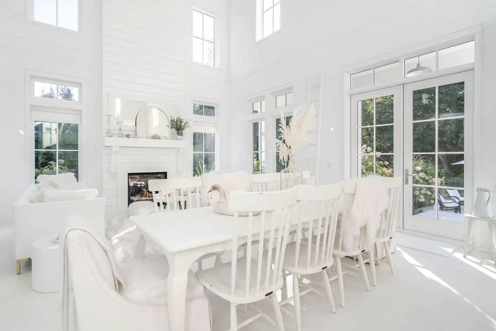 A french door off the dining area leads to the back porch.
