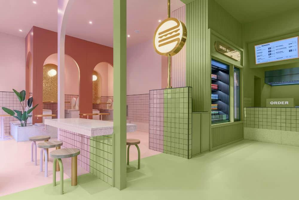 The Bun Turin restaurant interior design by Masquespacio.