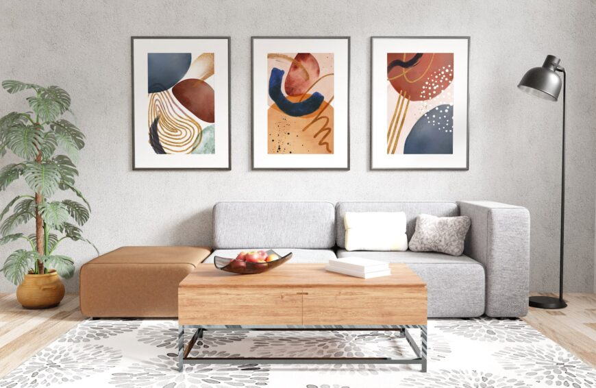 Bold Colors Wall Art Mock Up Example