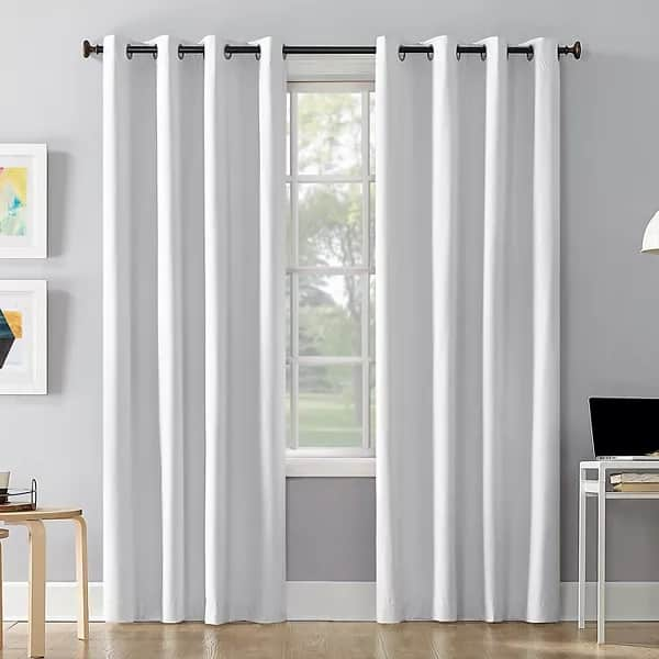 The Sun Zero Cameron Thermal Insulated 100% Blackout Grommet Curtain Panel from Kohls.