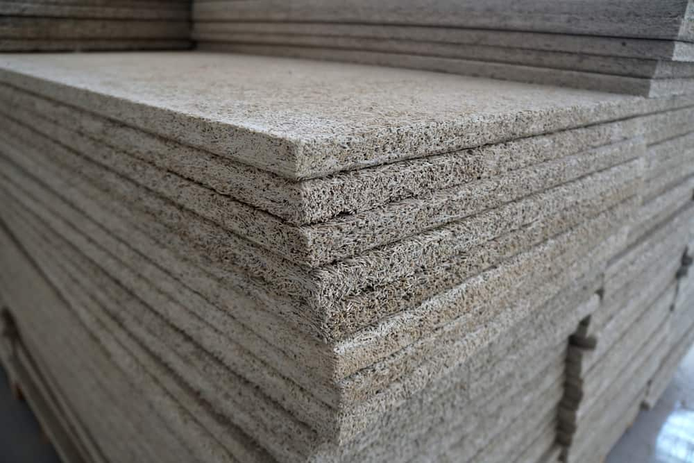 This is a close look at a stack of audio insulation sheets.
