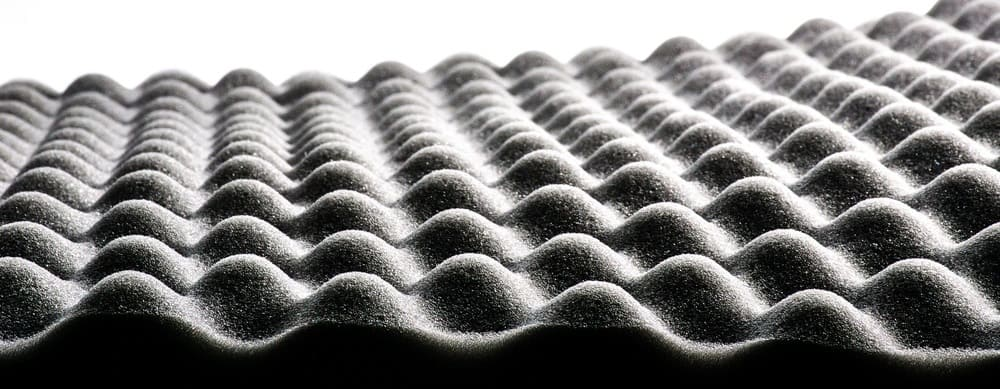 This is a close look at a Polyurethane foam panel insulation.