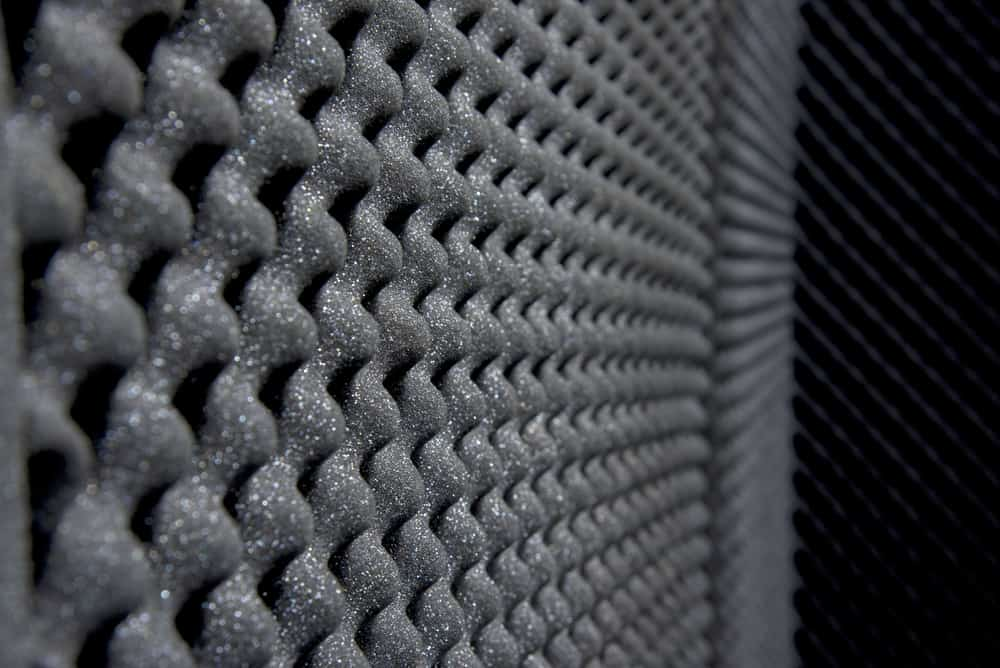This is a close look at a foam insulation and soundproofing.