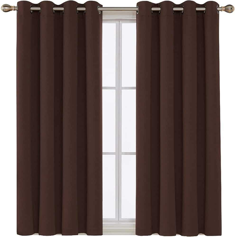 The Deconovo Blackout Curtains Grommet Top Room Darkening Thermal Insulated Curtain from Walmart.