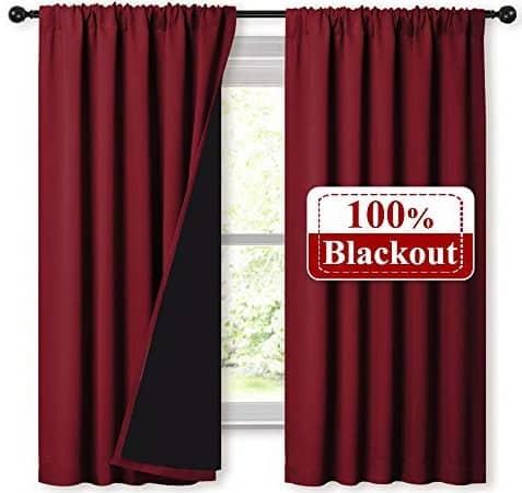 The Nicetown blackout insulated curtains from Walmart.