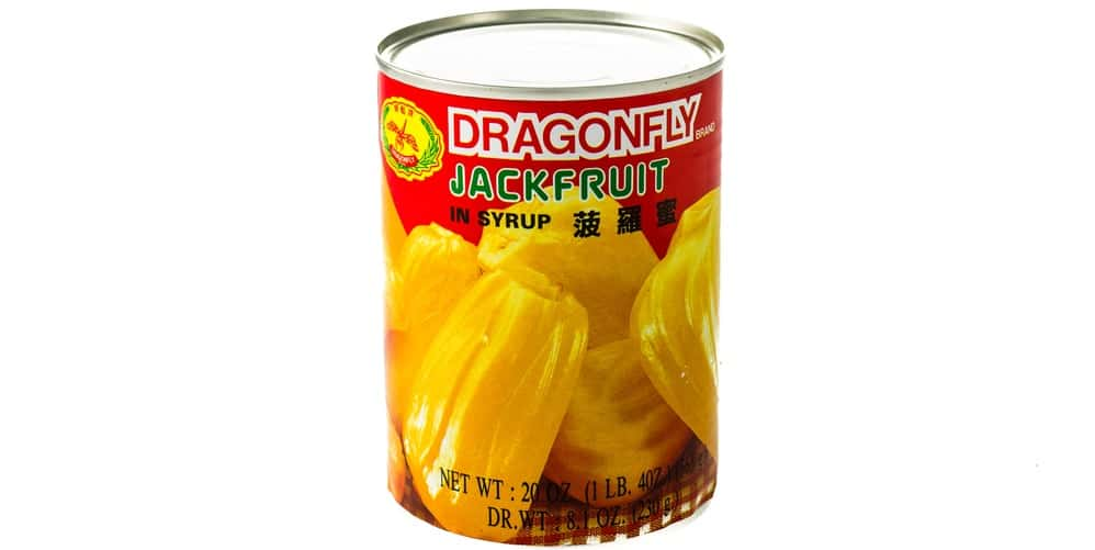 A can of jackfruit in syrup.