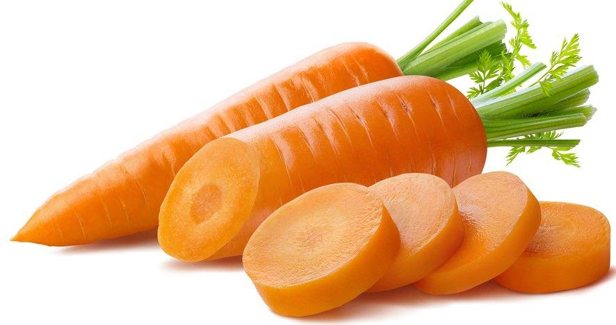 A close look at sliced fresh carrots.