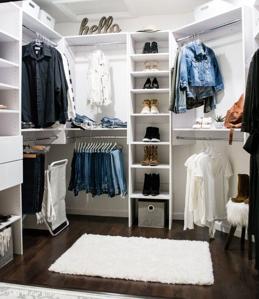 Modular Closet example