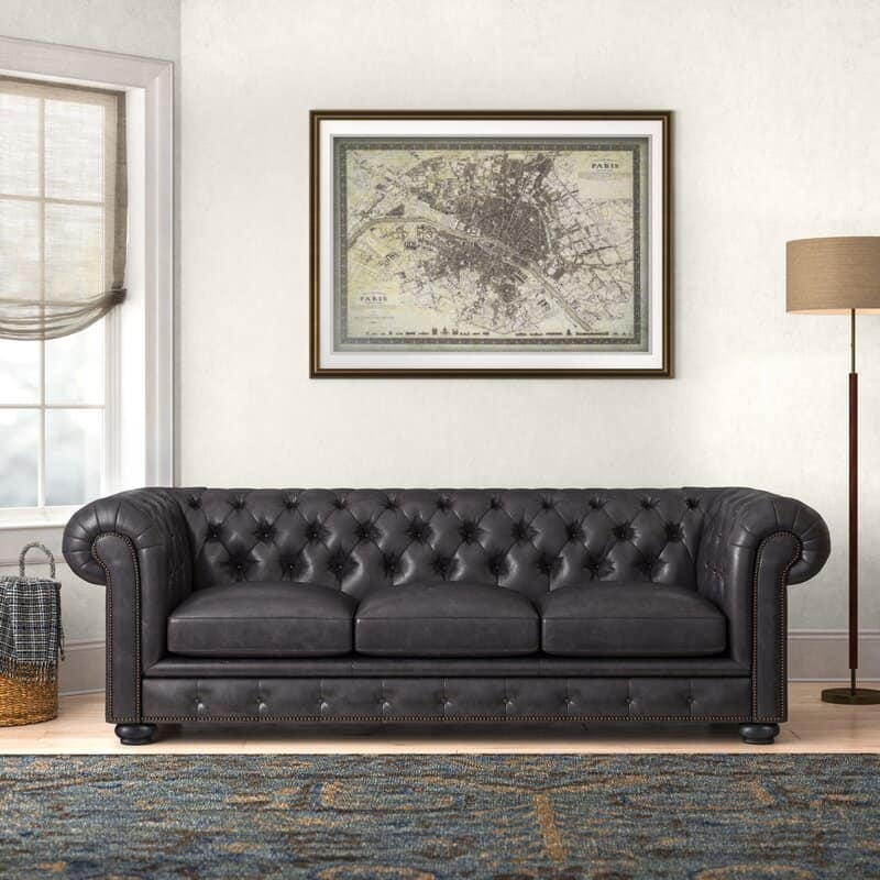 This is the Birchlane Adelbert Rolled Arm Chesterfield from Wayfair.