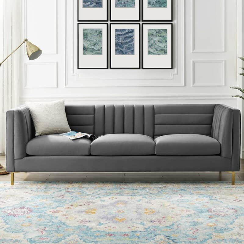 This is the Mercer41 Machuca Velvet Rolled Arm Chesterfield from Wayfair.