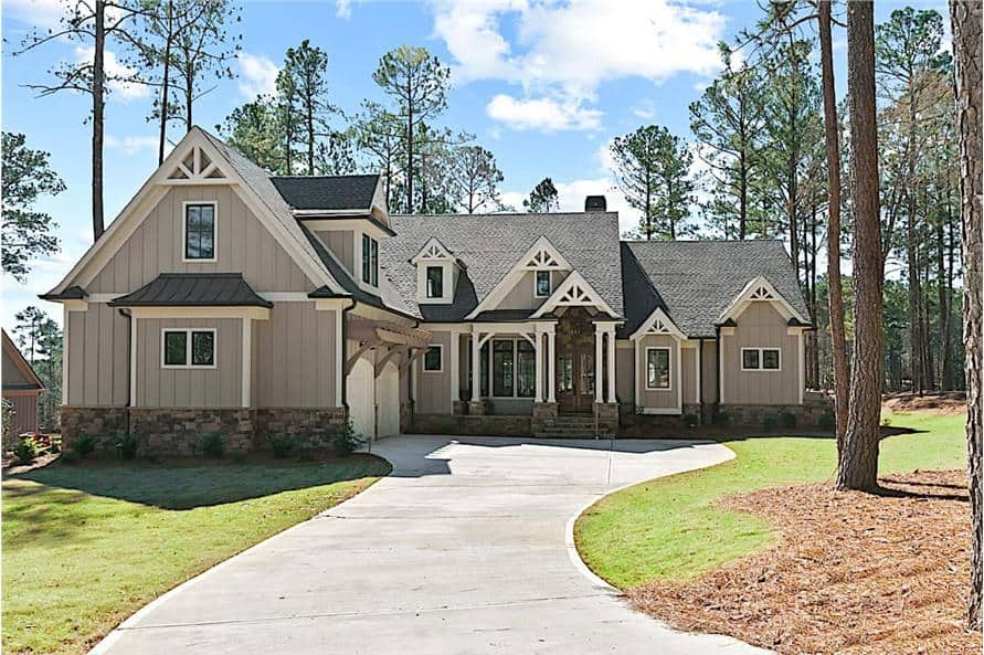4-Bedroom Cottage Style Two-Story Home with Courtyard Entry Garage and Bonus Room