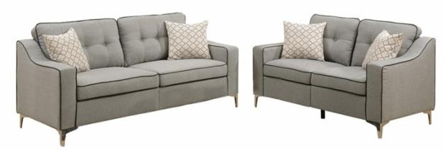 This is the Benzara 2 Piece Tufted Cabriole Sofa Set from hay Needle.
