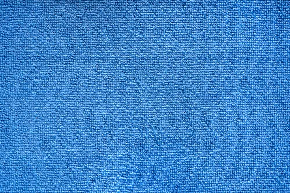 This is a close look at a blue microfiber cloth.